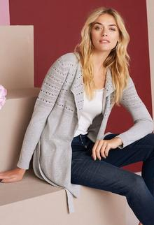 Babra Cardigan - light grey