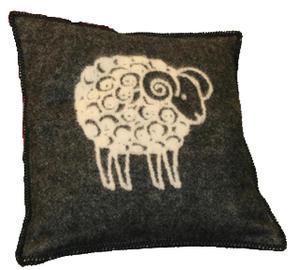 """Sheep"" vit/svart 50x50 Kuddfodral"