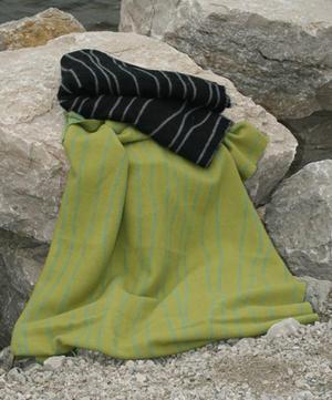 Curvy Lines grön/grön 130x180