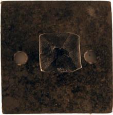 Enknopp 6cm fyrkant