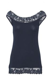 Florence top - royal navy blue