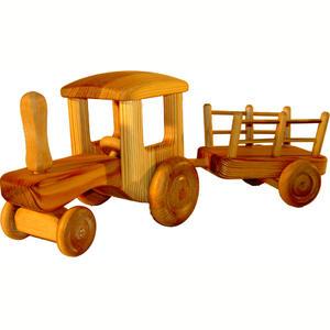 Stor Traktor m. vagn