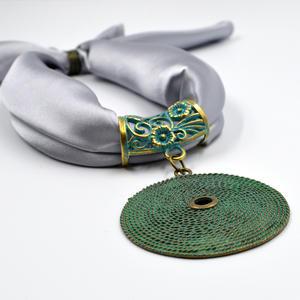 Halsband - platta - grå
