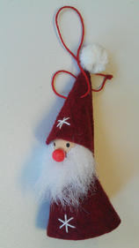 Small hanging santa with a star