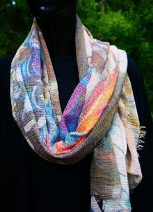 Sjal - mixade färger